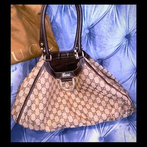 Gucci large GG Abbey D ring hobo bag